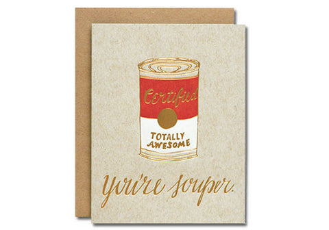 Wild Ink Press You're Souper Letterpress Card | Room 2046 Toronto Canada