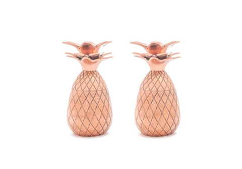 W&P Design Copper Tiki Pineapple Shot Glasses - Set of 2 | Room 2046 Toronto Canada