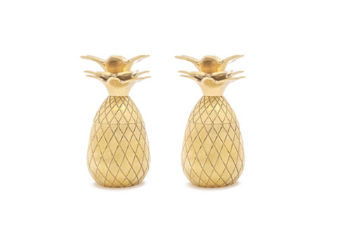 W&P Design Gold Tiki Pineapple Shot Glasses - Set of 2 | Room 2046 Toronto Canada