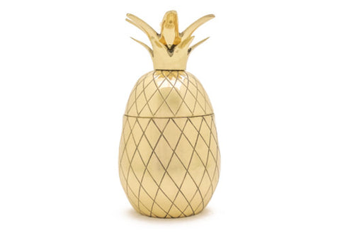 W&P Design Gold Tiki Pineapple Cocktail Tumbler | Room 2046 Toronto Canada