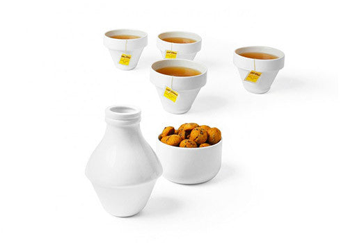 Doiy With Milk Porcelain Tea/Coffee Set | Room 2046 Toronto Canada