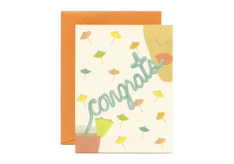 Yeppie Paper Crazy Straw Congrats Greeting Card | Room 2046 Toronto Canada