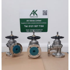 Stainless Steel Angle Pattern Diaphragm Valves ready for shipping