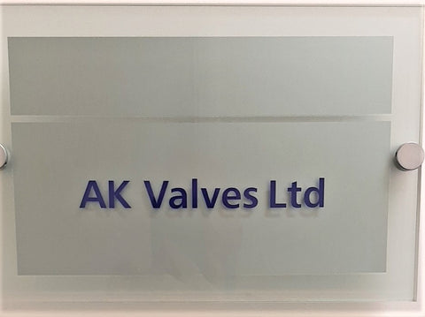 AK Valves Ltd - Office Sign