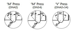 Press Fit Diagram 42mm 54mm