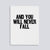 "Image showing letterpress poster ""And You Will Never Fall"" by Paper Jam Press"