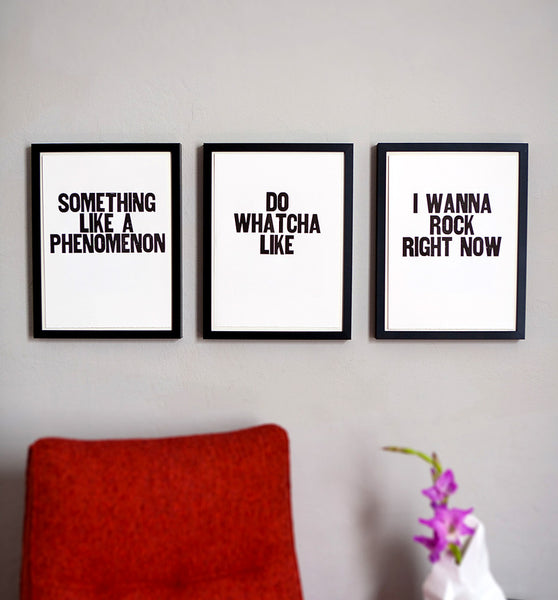 "Image showing framed letterpress poster ""Do Watcha Like"""