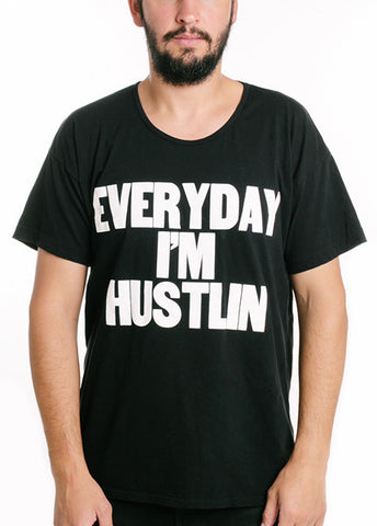 Everyday I'm Hustlin Oversize Tee