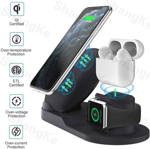 3 in 1 Fast Wireless Charger Dock Station Fast Charging For iPhone 11 11 Pro XR XS Max 8 for Apple Watch 2 3 4 5 For AirPods Pro