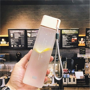 Square Frosted Plastic Water Bottle