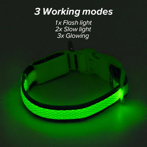 Safety doggie collars for night time walks/lost pet/anti accident/Nylon materialAllColors - Safetydoggiecollars