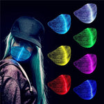 2020 Halloween Led Light Up Rave mask Glowing Fiber Optical Designer Face Mask