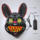 Let the scary begin 2 Halloween Carnival Bar Night Party Led Strip Scary Mysterious Clown Mask