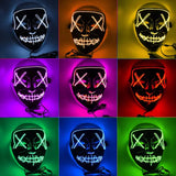 Let The Scary Begin Halloween Carnival Bar Night Party Led Mysterious Clown Mask