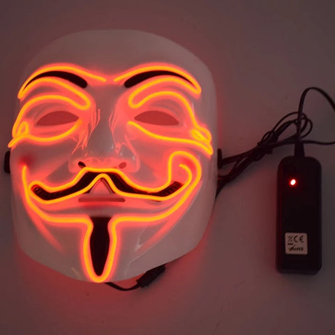 Let the scary begin 3 Halloween Carnival Bar Night Party Led Strip Scary Mysterious Clown Mask