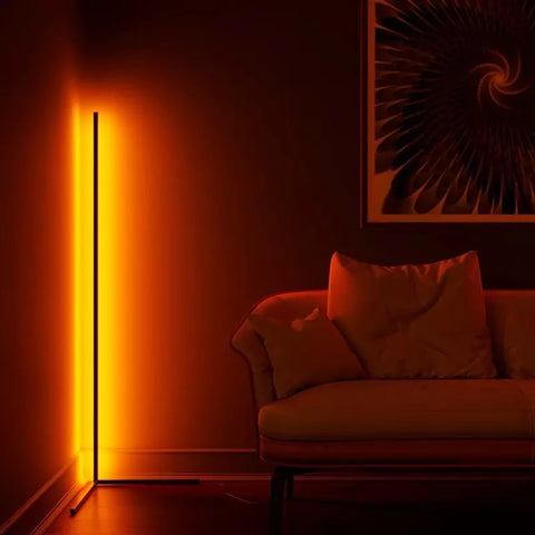 LED Colorful Corner Floor Lamp with Remote Controller, Multi-Color Change