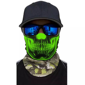 Custom Magic 3D Pattern Designs Ghost Skull Elastic Tube Bandanna
