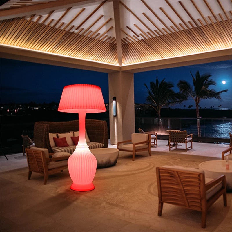 Modern Glowing LED Lights Home Decor Floor Lamp Indoor Outdoor, Mult-Color