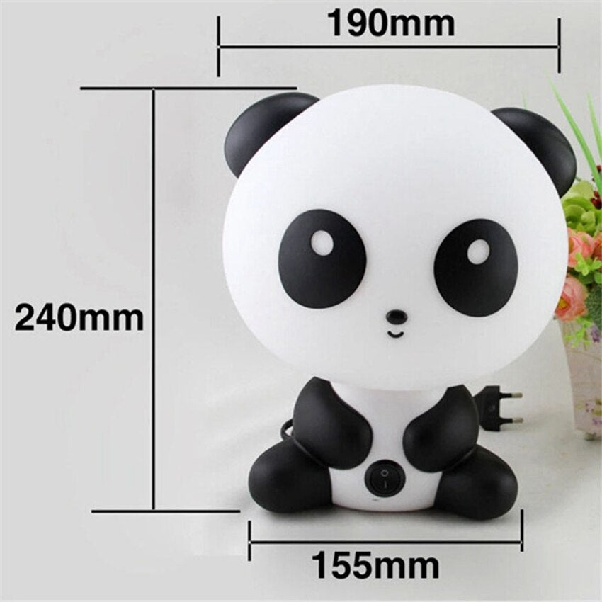 Cute Cartoon panda Night light table desk lamp LED for Children Baby Gifts Bedroom bedside Sleeping lamp indoor decor Lighting