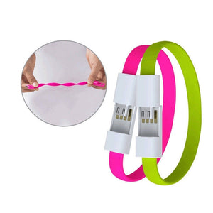 JUSFYU outdoor Colorful Mini Micro USB Bracelet Charger