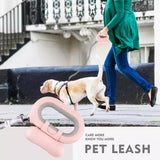 Top Quality PetCome Flash Pet Leash  Nylon hardness rope dog leash with poop bag