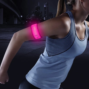 MGlobal Outdoor Safety Glow Bands, 2 Per Pack, Pink