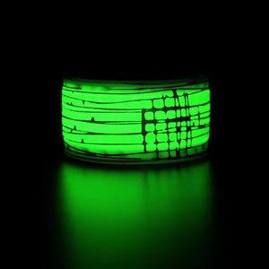 MGlobal Outdoor Safety Glow Bands, 2 Per Pack, Green