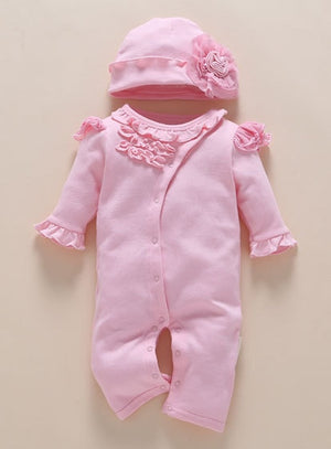 New Born Baby Clothes Long Sleeve Winter Fall Spring Set 0-3 Month Rompers Knitting Jumpsuits