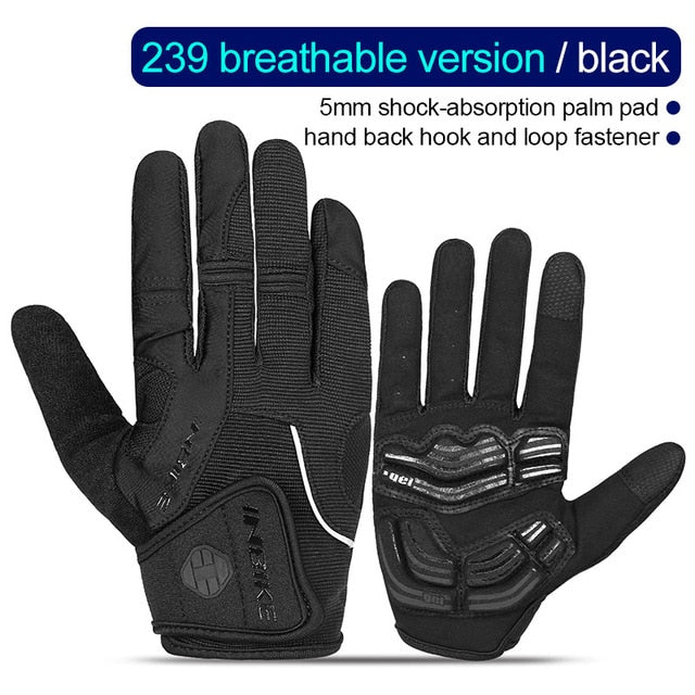 INBIKE Full Finger Cycling Gloves Touch Screen MTB Bike Bicycle Gloves GEL Padded Outdoor Sport Fitness Gloves Bike Accessories