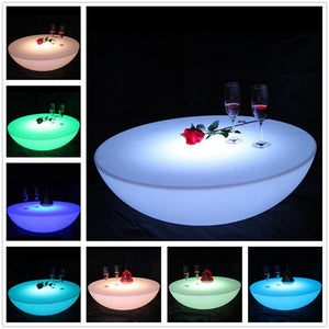 D23.62in*H7.87in Colorful outdoor bar table set led plastic furniture battery round table SK-LF17 (D60*H20cm)