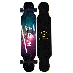 Skateboard longboard Adult Teenagers Girls Maple Natural Wood