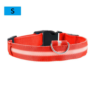 Flashing Glowing Gem Light LED Dog Collar Adjustable Small Pet Luminous Safety Collar