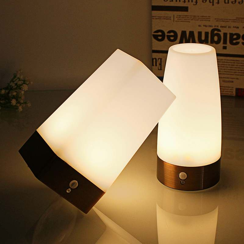 Wireless Induction LED Night Light Bedside Reading Camping Lamp With Motion Sensor on/off switch for Children Kids Birthday Gift