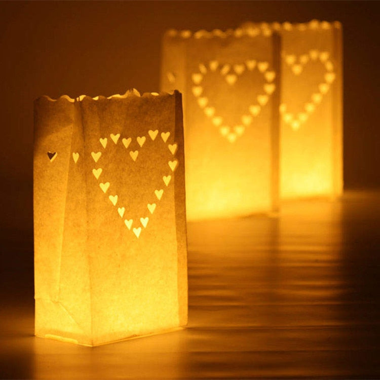 20 pcs/lot Heart Shaped Tea Light Holder