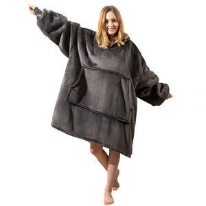 Winter Women Warm Oversized Fleece Blanket Hoodies