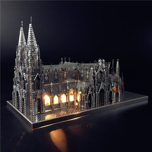 IRON STAR 3D Puzzle Metal Assembly Model St. Patrick's Cathedral Model Kits DIY 3D Laser Cut Jigsaw Toy Creative toys