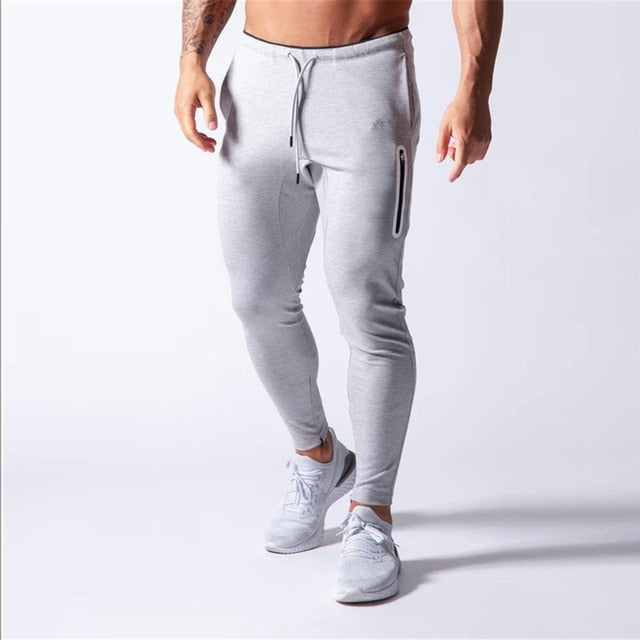 New Jogging Pants Men Sport Sweatpants Running Pants Men Joggers Cotton Trackpants Slim Fit Pants Bodybuilding Trouser 20CK01-2