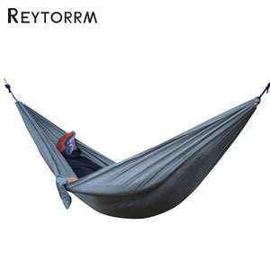 Hiking Camping 270*140cm Hammock Portable Nylon Safety Parachute Hamac Hanging Chair Swing Outdoor Double Person Leisure Hamak