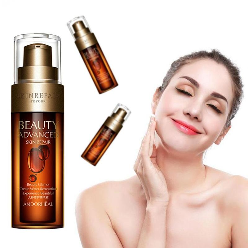 50ml Hyaluronic Acid Ginseng Anti Wrinkle Face Serum Vitamins Collagen Pore Minimizer Moisturizing