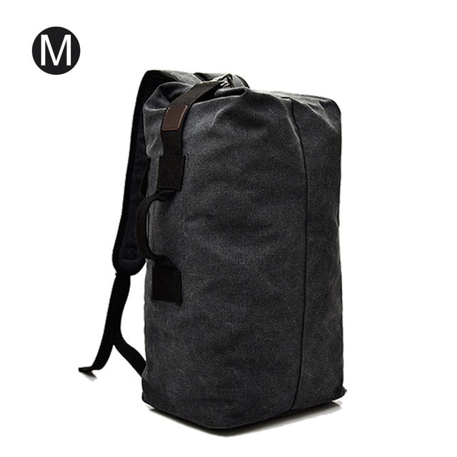 Men's Canvas Backpacks Multi-purpose Bucket Mountaineering Travel Bag Large Shoulder Bags Men Army Trip Foldable Hand Bag XA1934