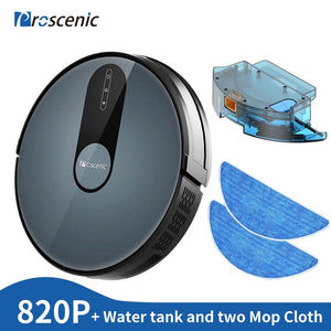 Proscenic 820P Robot Vacuum Cleaner Smart Planned 1800Pa Suction with wet cleaning for Home Carpet Cleaner Washing Smart Robot