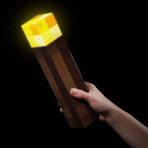 Light Up Minecrafted Torch LED Night Wall Light Luminous Toys Game Design Toy Torch Hand Held&Wall Mount Home Party Decorations