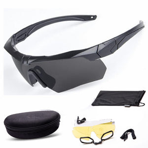 Military Bulletproof Glasses Outdoor Tactical Goggles Shooting Cs Riding Mountaineering Polarized Three Sets Of Lenses