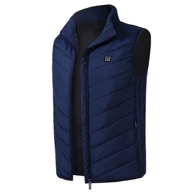 Outdoor USB Infrared Heating Vest Jacket Men Women Winter