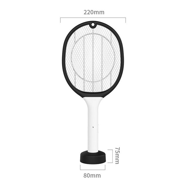 3000V Electric Mosquito Swatter 1200mAh USB Rechargeable Home Fly Bug Zapper