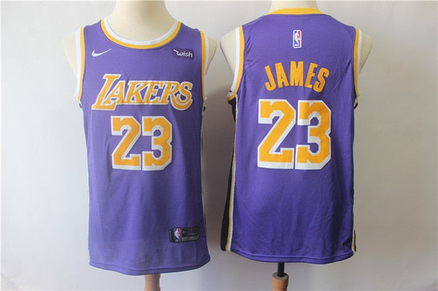 NBA Los Angeles Lakers #23 Lebron James Men's Basketball Jersey City Edition Authentic Jerseys