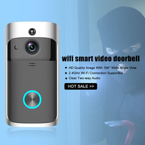 Wifi smart video doorbell Wireless WiFi Video Doorbell Smart Phone Door Ring Intercom Camera Security Bell