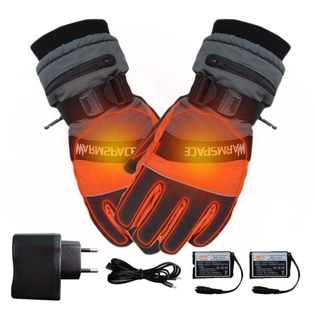 Winter Ski Outdoor Work USB Hand Glove Warmer Electric Heated Gloves With 4000mAh Rechargeable Battery Cycling Motorcycle Gloves
