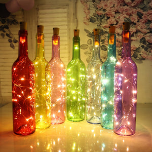 1M 2M LED string lights Silver Wire Fairy Light Garland Bottle Stopper For Glass Craft Wedding Christmas Decoration for Home