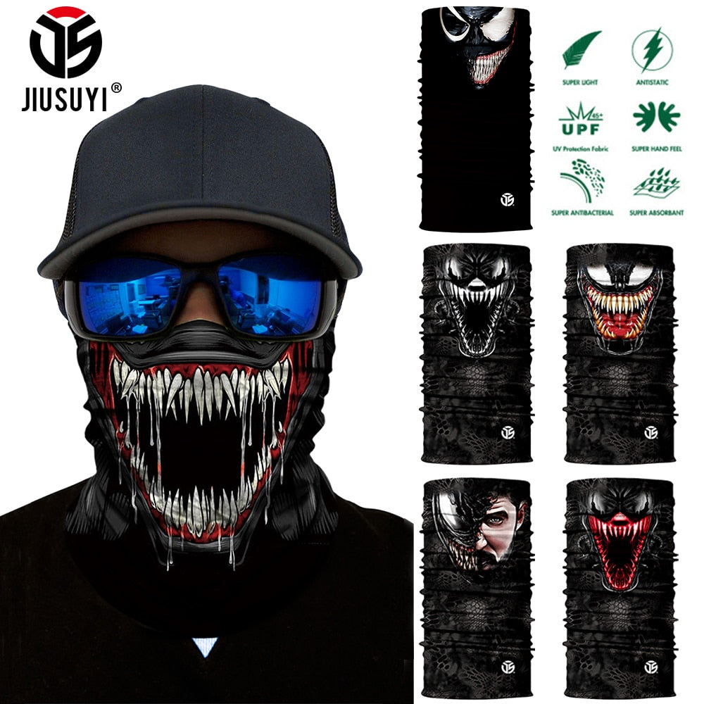 3D Seamless Venom Magic Bandana Neck Gaiter